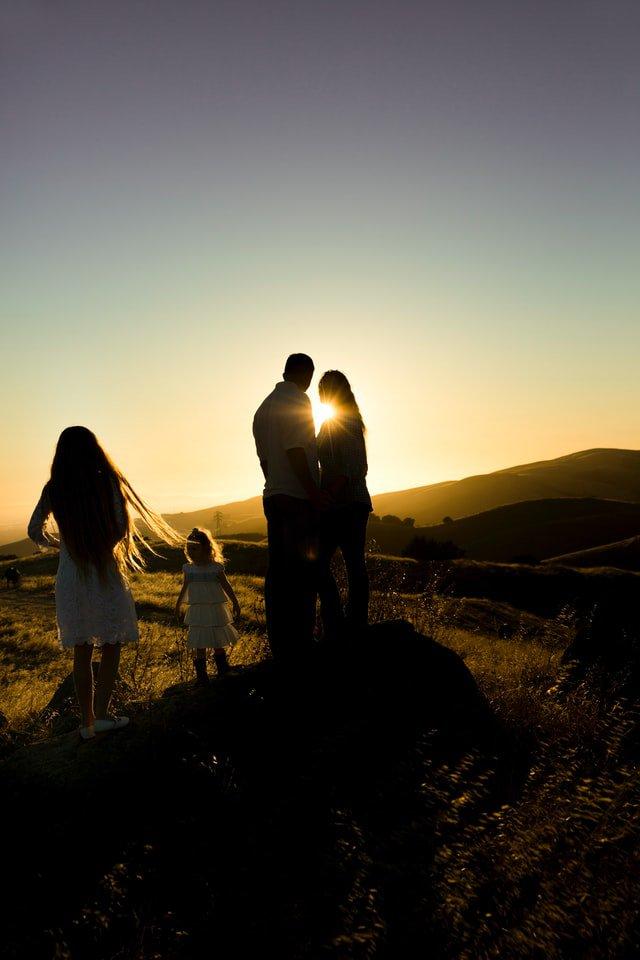 family enjoying sunset - waypath