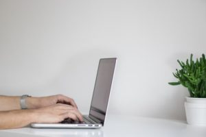 computer laptop typing - CMS -WayPath consulting