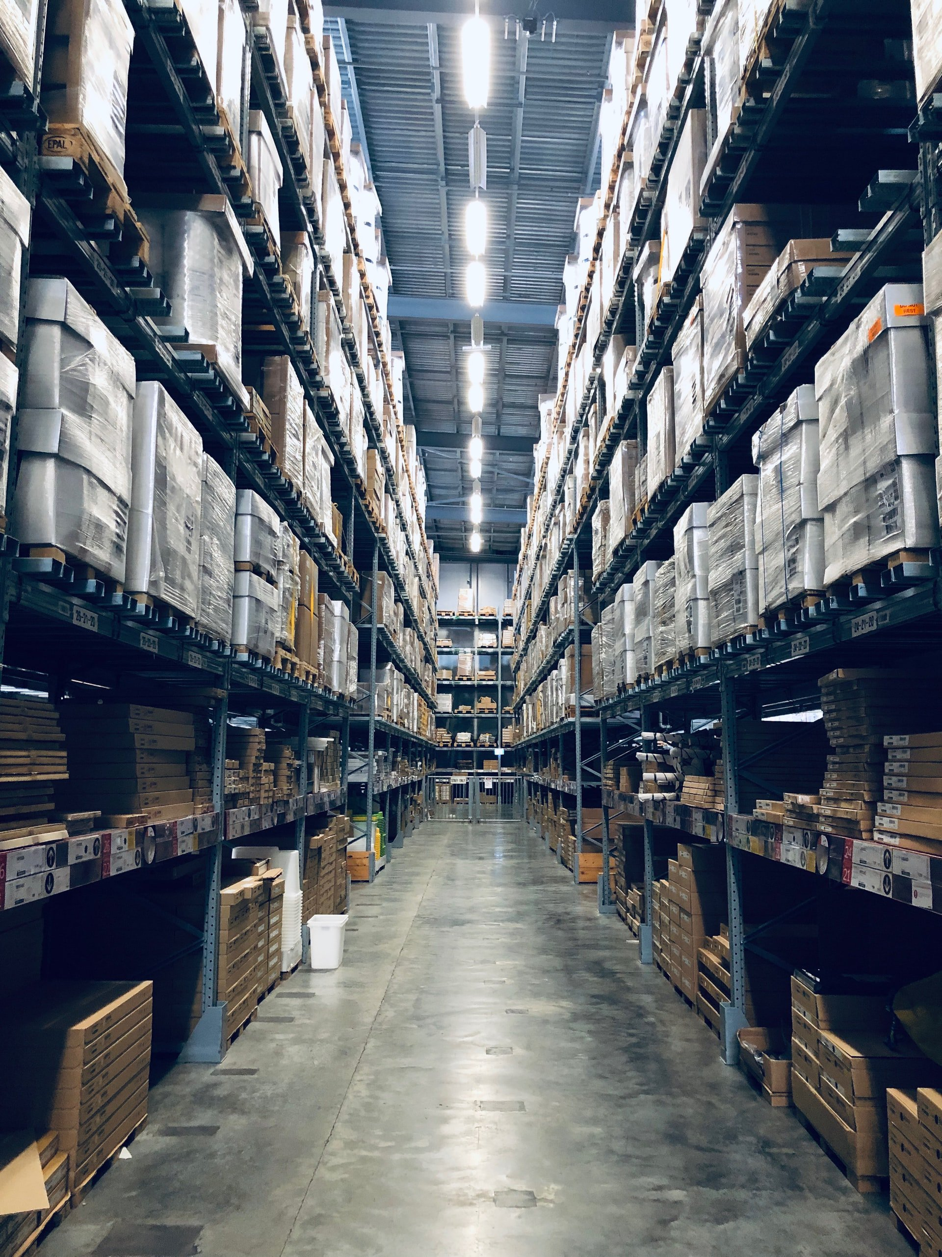 corrugated packaging in warehouse - WestRock casetudy - WayPath Consulting